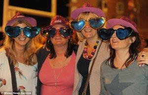 Sophisticated mums enjoying an evening of Take That